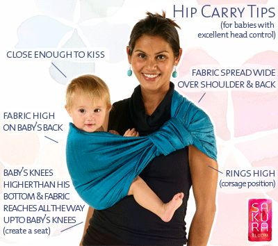 Baby sling tips for ring slings worn by mom's who carry baby on their hips - http://www.sakurabloom.com/pages/linen-silk-collections/ ----- definitely try and find on ebay orrr put it on the baby shower registry--oh, such a good idea! :)