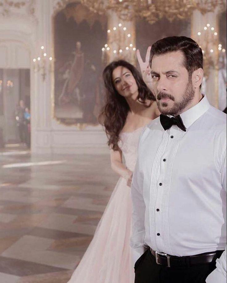 """Such an adorable pic of Katrina Kaif photo bombing Salman Khan on the sets of Tiger Zinda Hai…"""