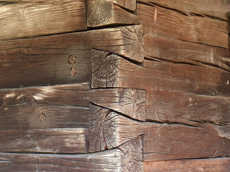 Dovetailed woodworking joints on a Romanian church.