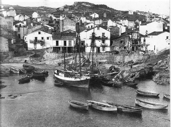 O porto de Corme a principios do século XX