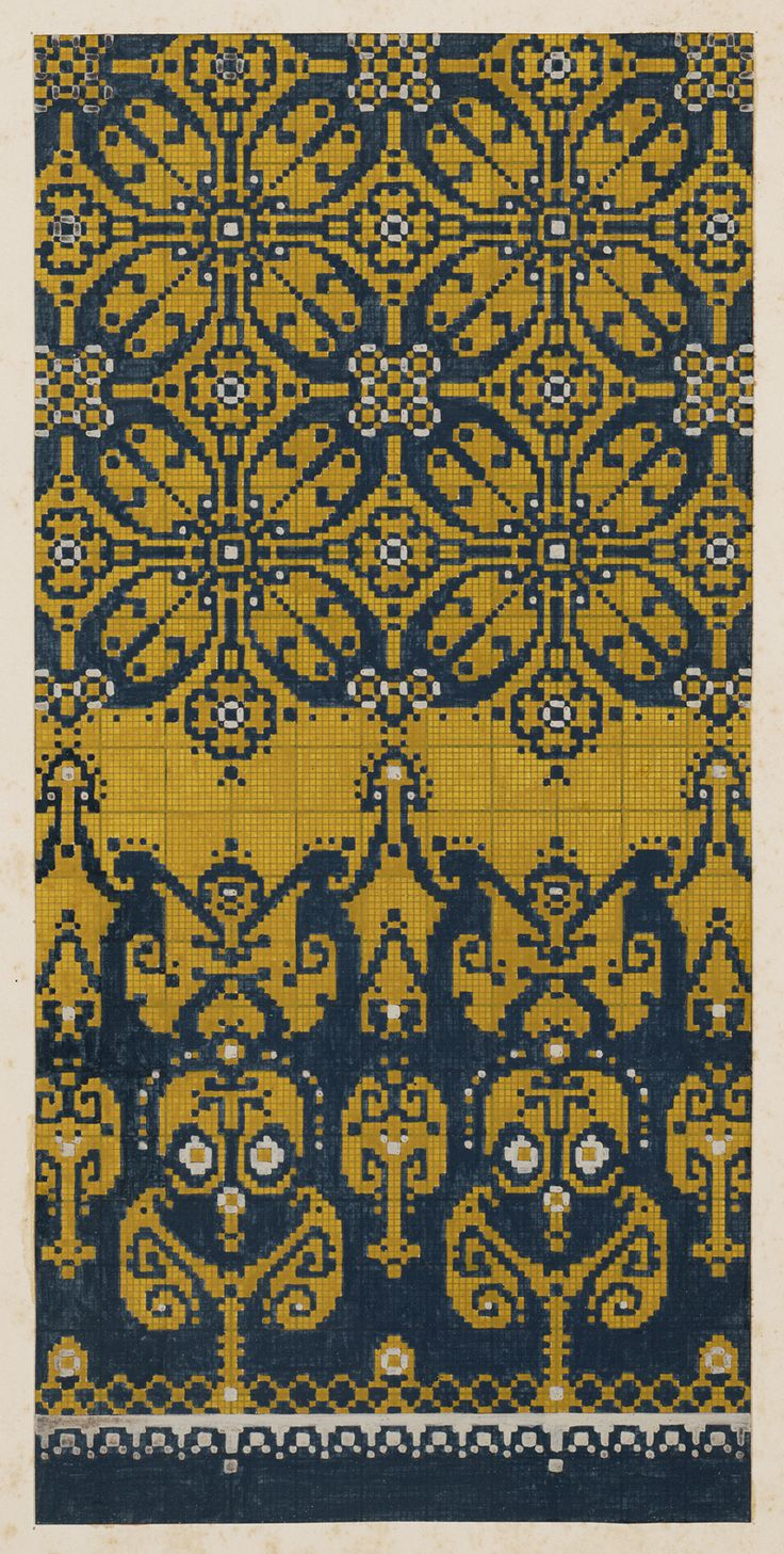 Carpet Design by M.D. Renssen, 1900 / 1919. Deventer Musea, CC BY-SA