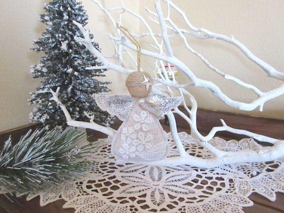 Navidad de Ángel Angel hecho a mano ornamento del árbol de