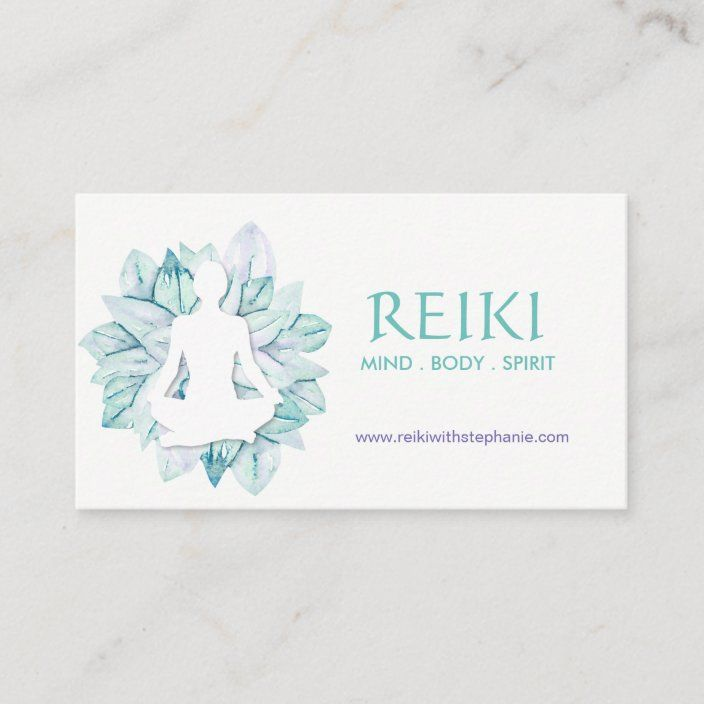Yoga And Reiki Business Cards Zazzle Com In 2021 Reiki Business Reiki Personal Business Cards