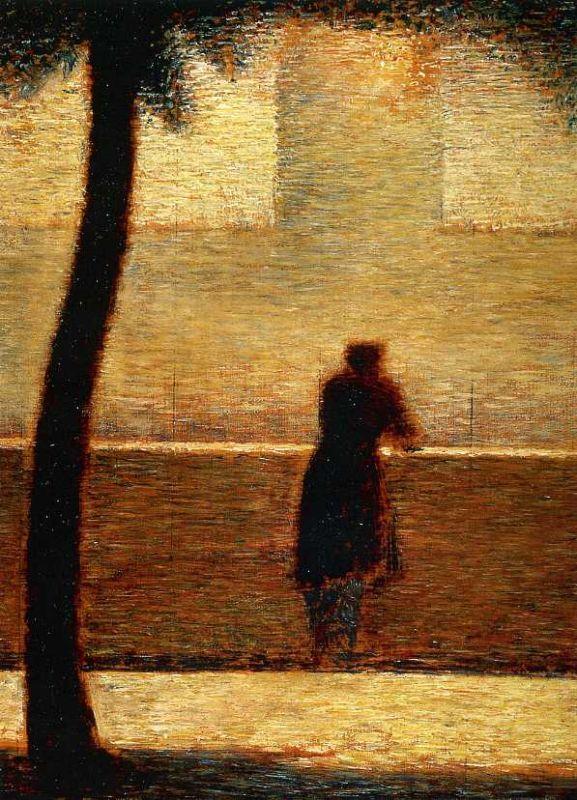"loverofbeauty: "" Georges Seurat,: Man on the Parapet (1881-2) """