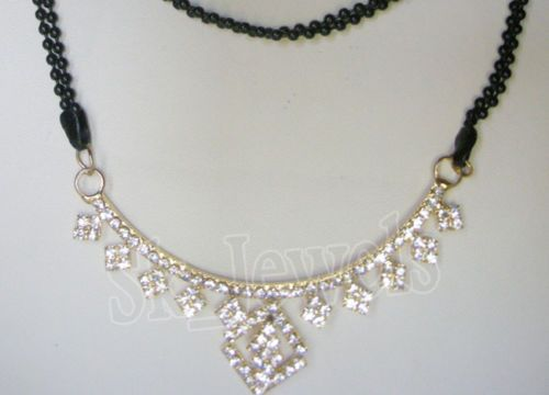 Diamond Yellow Gold  Necklace by sk_jewels