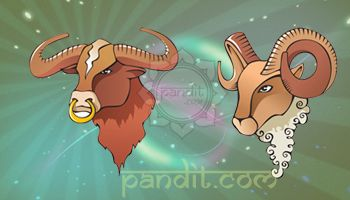 TAURUS AND ARIES COMPATIBILITY by Pandit Rahul Kaushal --------------------------------------------------- There would be some good romps and they are quite likely to enjoy a very possessive and exciting time together in the beginning here but tears and shouting may well follow.  http://www.pandit.com/taurus-love-sign-compatibility/