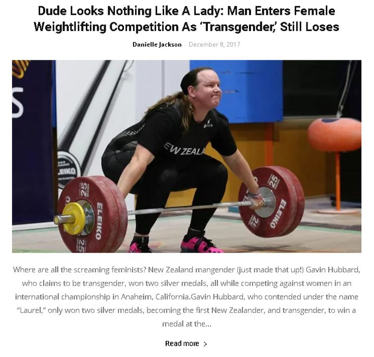 Dude Looks Nothing Like A Lady: Man Enters Female Weightlifting Competition As 'Transgender,' Still Loses