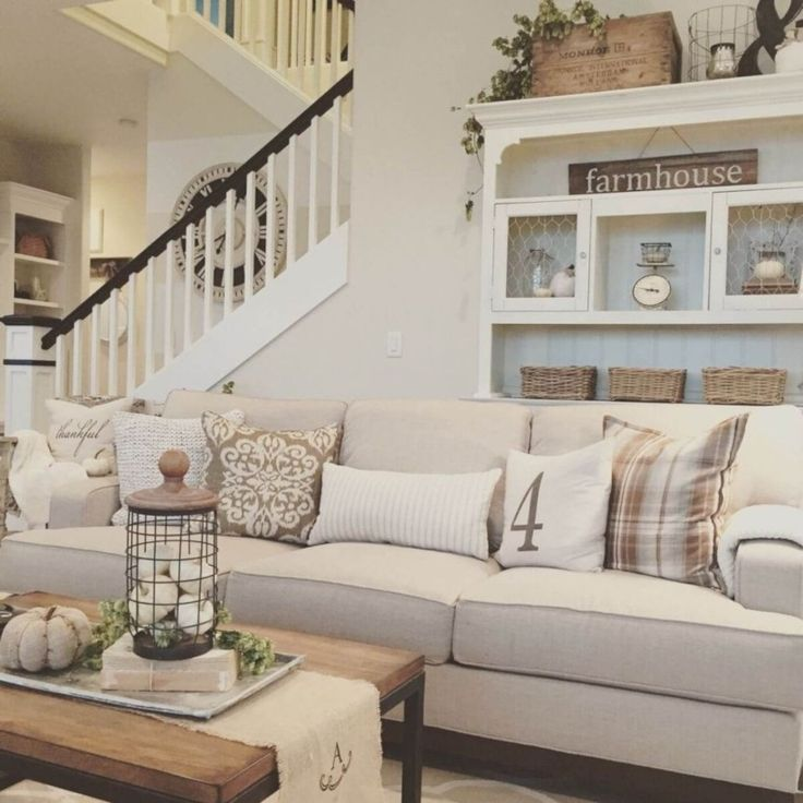 34 Airy and Cozy Rustic Living Room