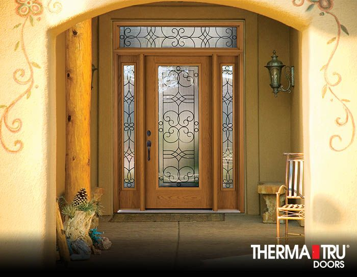 Therma-Tru Fiber-Classic Oak Collection fiberglass door sidelites and transom featuring the & 9 best Southwest Home Styles images on Pinterest | Fiberglass entry ...