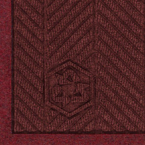 Andersen 2241 Maroon PET Polyester Waterhog ECO Elite Fashion Entrance Mat, 6' Length x 4' Width, For Indoor by Andersen. $115.24. The attractive high performance WaterHog eco elite fashion combines the performance features and unique herringbone face pattern of the WaterHog eco elite mat and adds an attractive fabric border made of the same green friendly 100 percent post consumer recycled PET polyester fiber system that is reclaimed from plastic bottles. The result is a beautif...