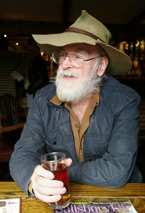 """RIP Terry Pratchett :'( The announcement came in typically irreverent manner on the author's Twitter feed, with a series of tweets beginning in the voice of his character, Death: """"AT LAST, SIR TERRY, WE MUST WALK TOGETHER."""""""