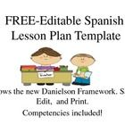 This is a free, editable lesson plan template that follows the Danielson framework for teaching. Easy to use; just save as a word document, edit, a...