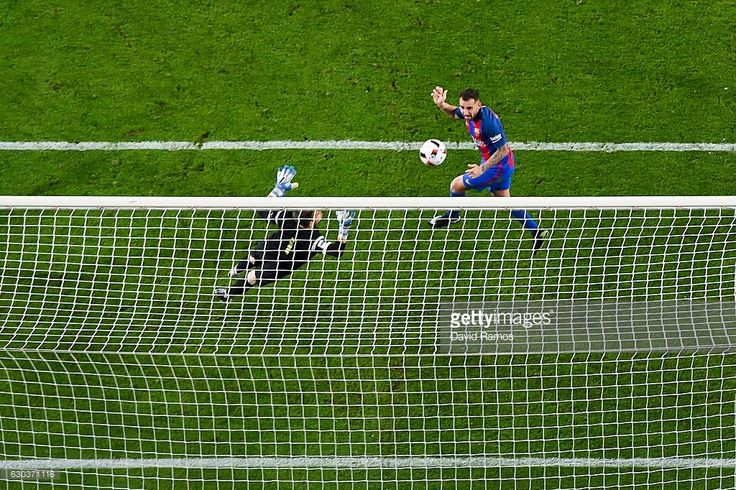 Paco Alcacer of FC Barcelona scores his team's fifth goal during the Copa del Rey round of 32 second leg match between FC Barcelona and Hercules at Camp Nou on December 21, 2016 in Barcelona, Spain.