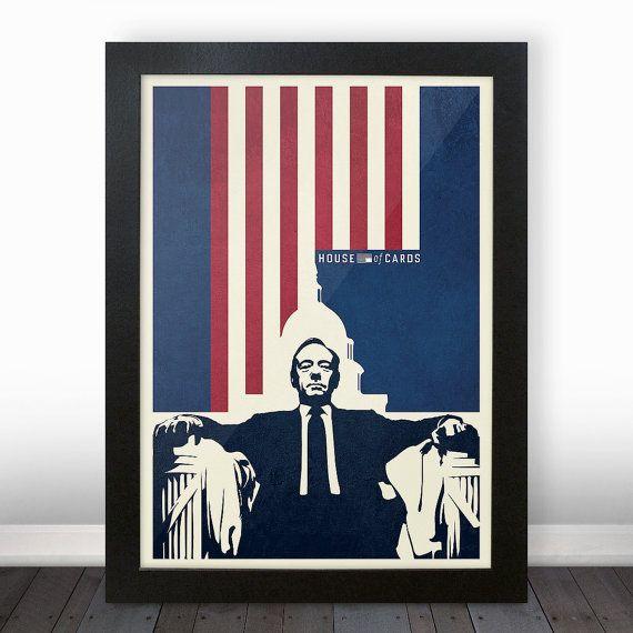 House of Cards affiche impression de la démocratie Frank