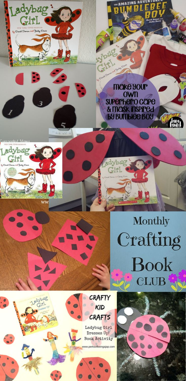 Ladybug Girl Wings - Celebrate the monthly crafting book club for January with Ladybug Girl, come see the crafts bloggers have come up with, like my Ladybug Girl Wings.
