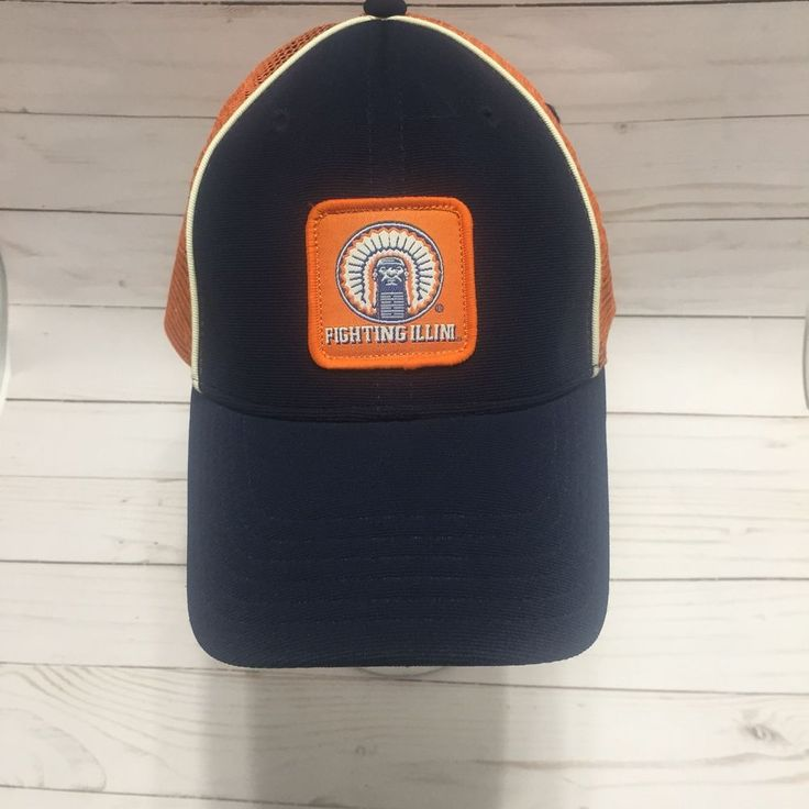 Illinois Fighting Illini Hat Chief Illiniwek Mesh Trucker Baseball Cap  #ColosseumAthletics #IllinoisFightingIllini