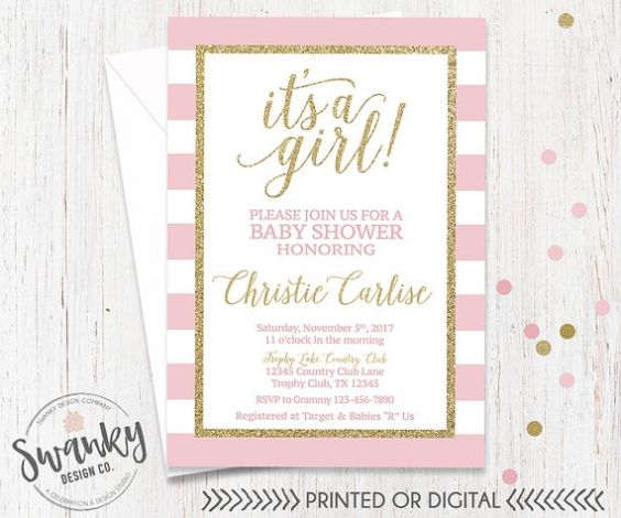 Pink And White Baby Shower Invitations inspiring baby shower invitation card for extra suggestion 5287