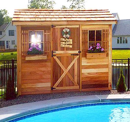 Cedarshed Pool Cabana Kits Are Multipurpose Diy Sheds That