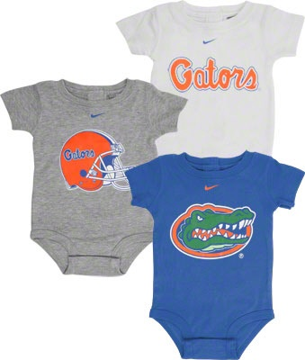 Florida Gators Nike Newborn 3 Pack Creeper Set $34