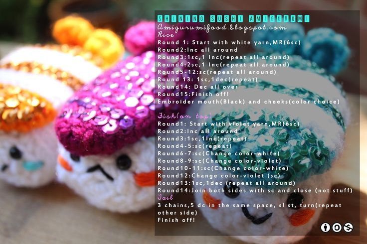 Amigurumi Sushi Free Pattern : 1000+ images about Amigurumi- Patterns ^_^ on Pinterest ...