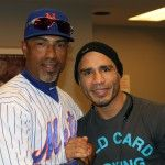Miguel Cotto takes break from training to attend Mets game.
