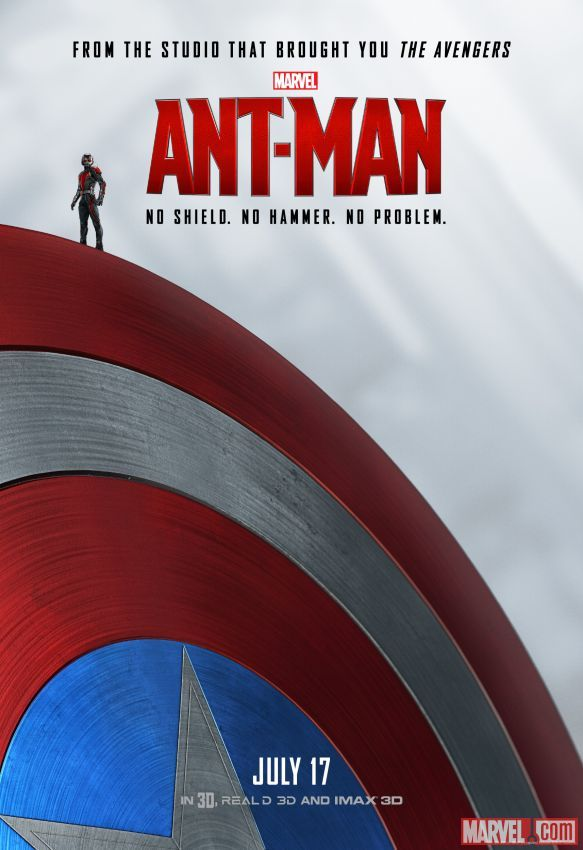 No shield? No problem. Marvel's next big thing: #AntMan, in theaters July 17.