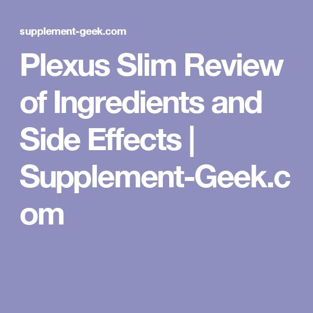 Plexus Slim Review of Ingredients and Side Effects | Supplement-Geek.com