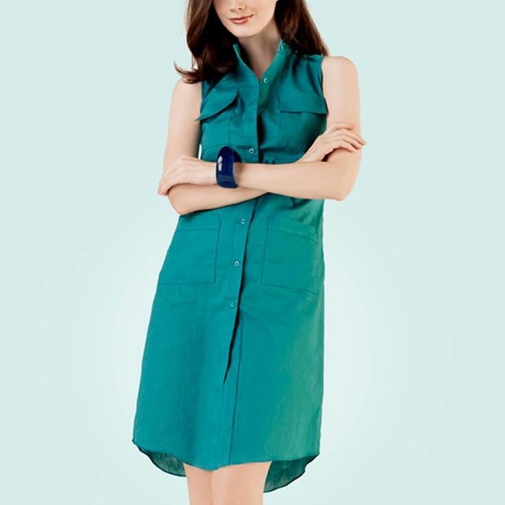 POPLIN Shirt Dress Deep Blue