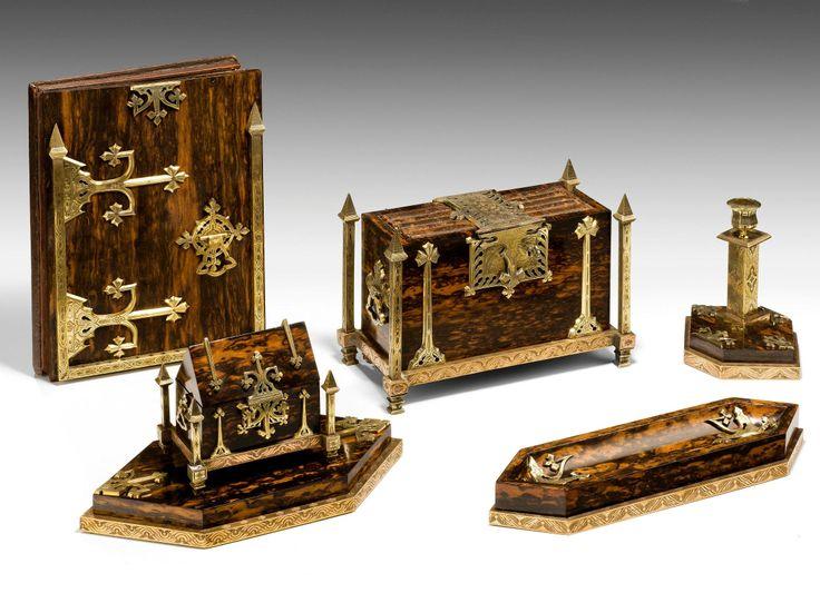 Calamander Gothic Revival desk set by Betjemann's United Kingdom. - 47 Best Desk Set Images On Pinterest Beautiful, Calligraphy And Desk