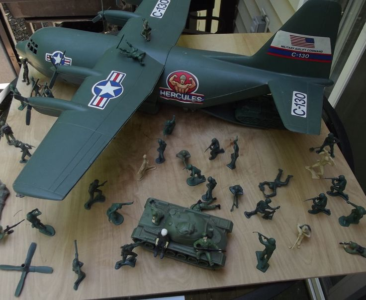 Hercules Military ARMY C-130 Cargo Plane Toy Vintage Processed Plastics USA #ProcessedPlasticCompany #Hercules