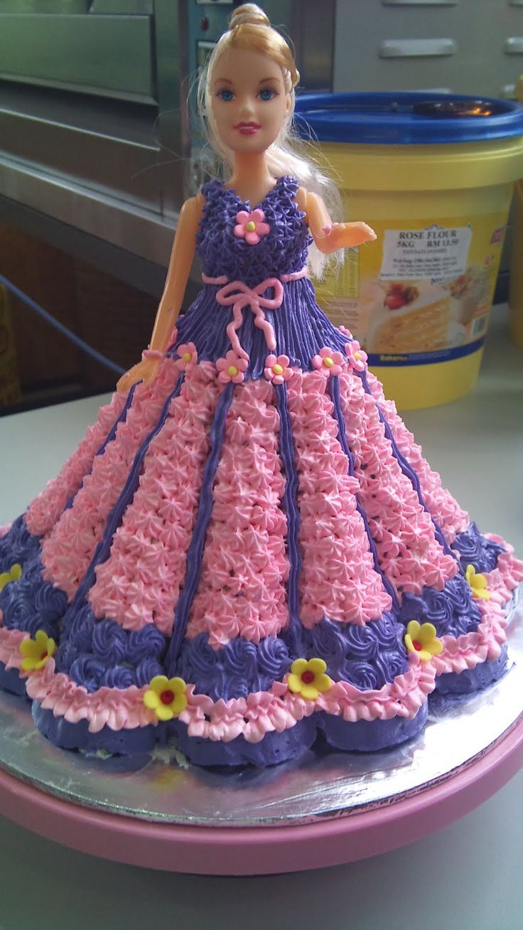 Barbie Doll Cake Pink Amp Purple Sweet And Funny