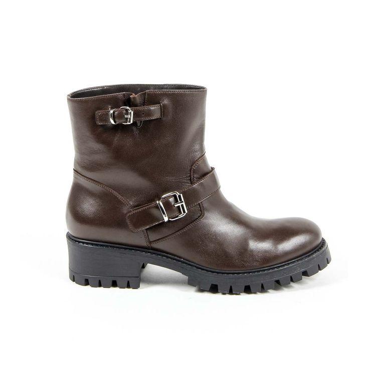 Versace 19.69 Abbigliamento Sportivo Srl Milano Italia Womens Short Boot B1441 NAPPA T. MORO