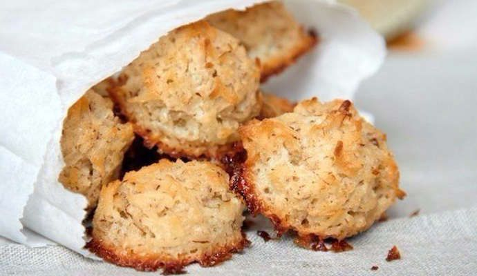Кокосовое печенье без муки, жира и яиц