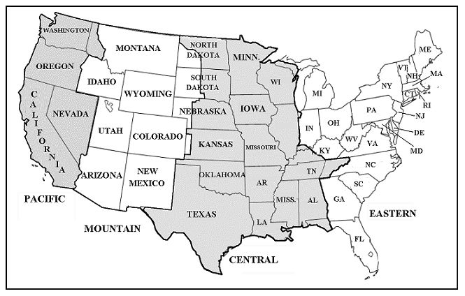 US Time Zone Map - ClipArt Best - ClipArt Best
