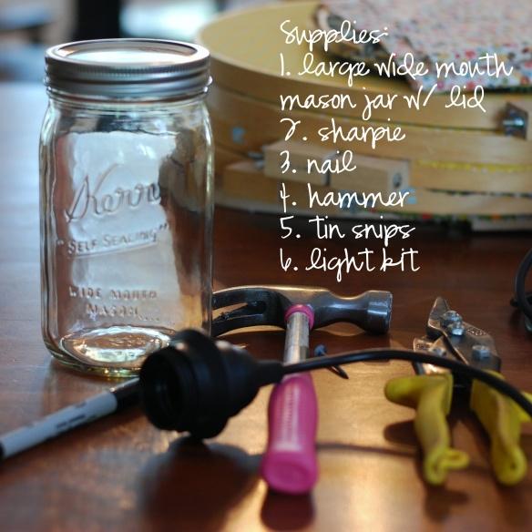 {diy} mason jar light supplies
