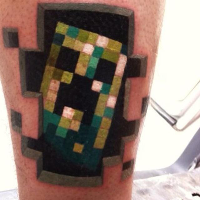 Minecraft Creeper   Nerd Tattoos - 89.5KB