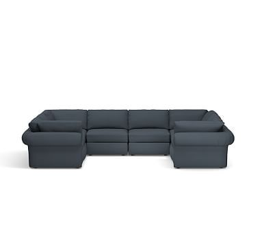 Best Pb Air Roll Arm Upholstered 8 Piece U Shaped Sectional U 400 x 300