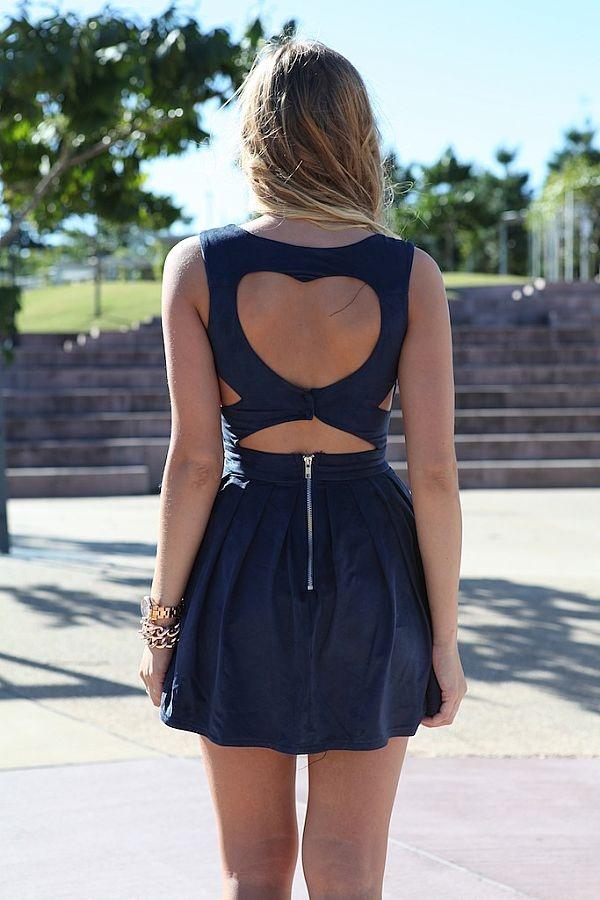 Heart Back dress... so cute!