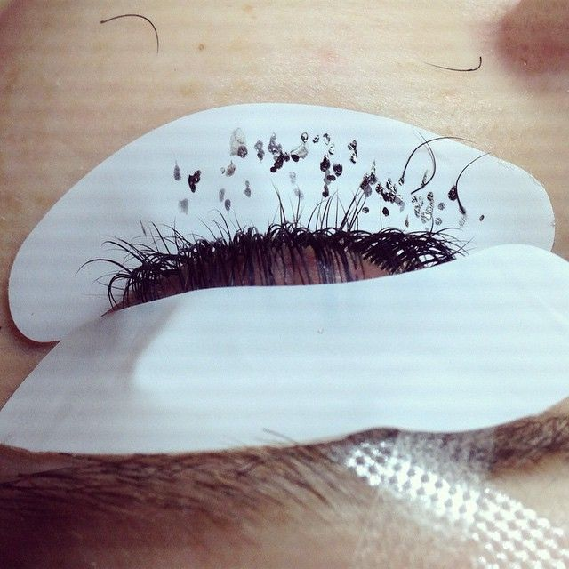 Helpful hint.  After you've completed 90% of your set, use a soft gel pad (one that's not too sticky) or tape to gently pull back the TIPS of the extensions you've placed.  Your second and third layers of natural lashes without extensions attached will fall out. (Adjust your wrist and watch your angle placement)- place your extensions on the remaining lashes. This will ensure you are being EXTRA thorough in your sets.  #borbybuzz