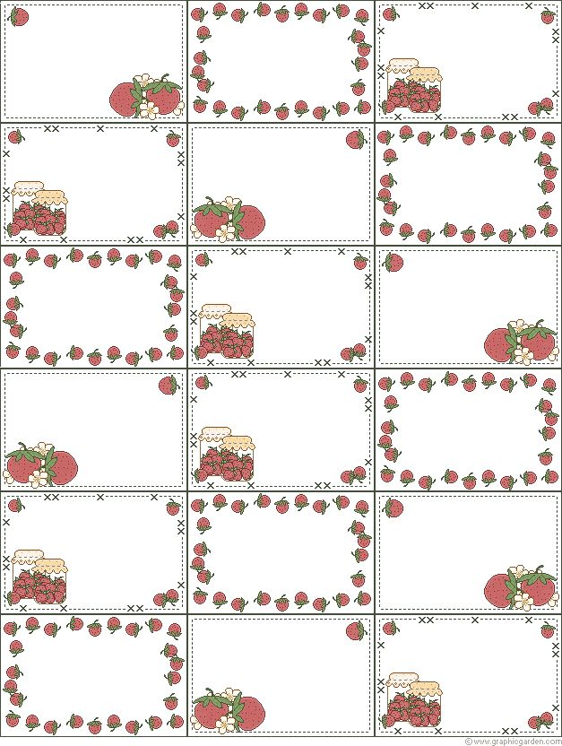 Fruits and Vegetables: Free Printable Invitations, Labels or Cards.