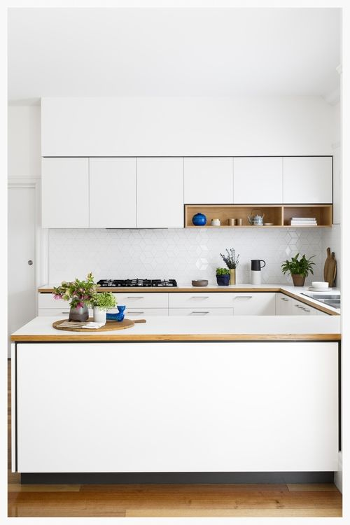 White kitchen; or should I say, the perfect blank canvas. For more inspiration visit kaboodle.com.au