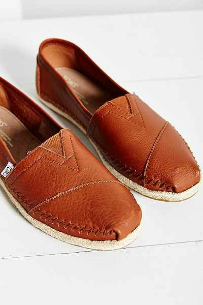 TOMS Leather Espadrille - Urban Outfitters