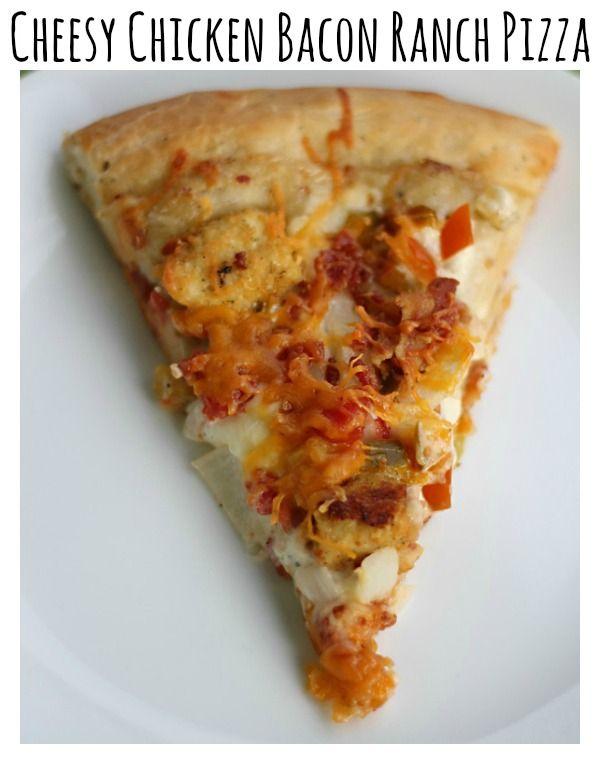 Cheesy Chicken Bacon Ranch Pizza Recipe from ItsGravyBaby.com