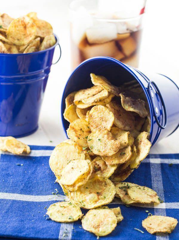 Zelf aardappel chips maken in de magnetron.