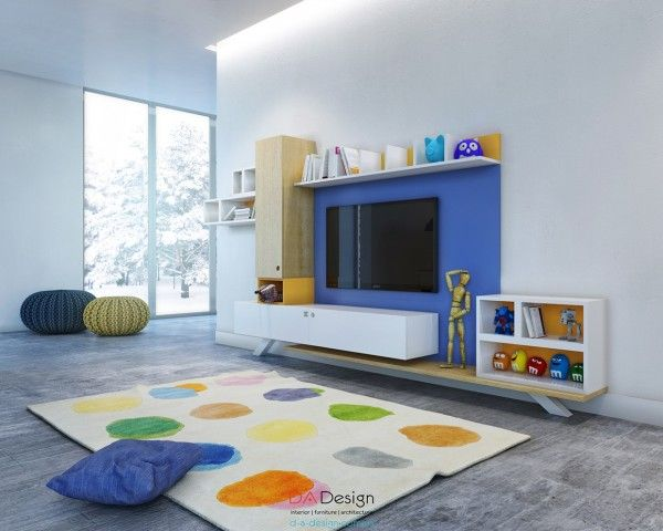 Best Playrooms Images On Pinterest Daycare Ideas School And - Colorful kids room designs with plenty of storage space
