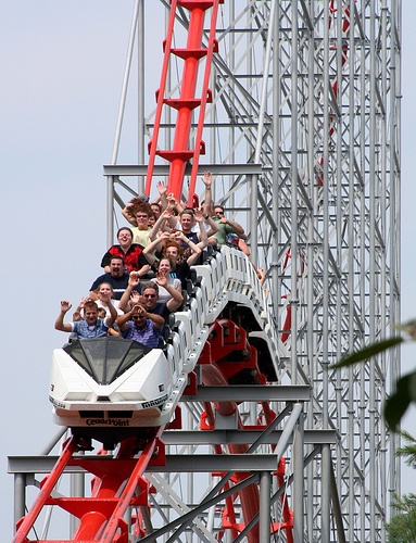 Magnum XL-200, Cedar Point, Ohio - first real roller coaster I went on