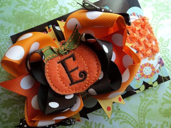Bows!Halloween Bows, Bows So, Bows Orange, Halloween Pumpkin, Pumpkin Hairbows, Fall Pumpkins, Hair Bows, Pumpkin Bows, Bows Ideas
