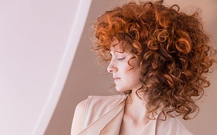 Colour trend look for curly hair: Wella Rich Copper Ecaille by Couture Color