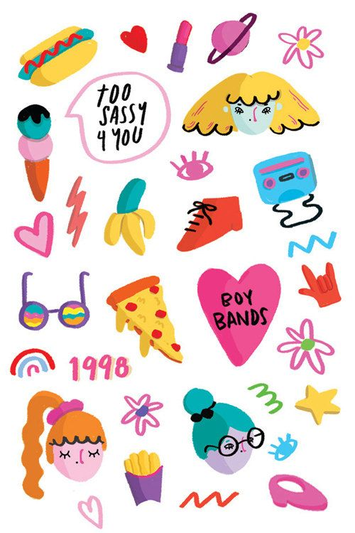 Sticker Set via Etsy Set of 15 water transfer stickers for Nail Art Decoration