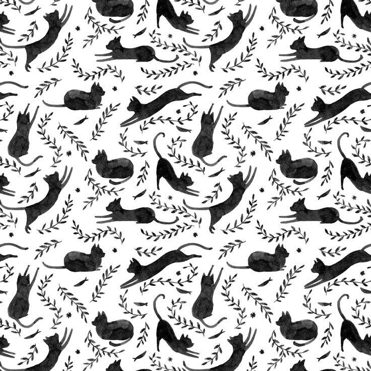 black cat pattern julianna swaney